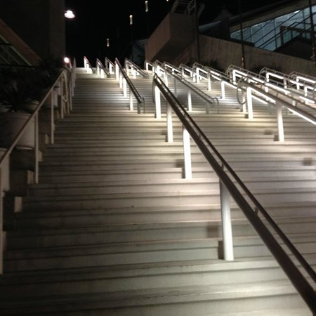 San Diego Convention Center : The stairs. there are two more flights out of sight at the top.