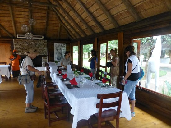 Karongwe River Lodge : Salle à manger