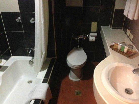 Bayview Park Hotel Manila: お湯は熱いです、ウォシュレッドが無いけど