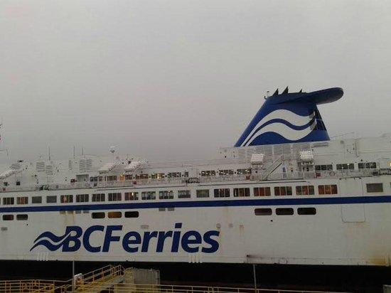 BC Ferries: A BC Ferry docked at Tsawwassen Ferry Terminal