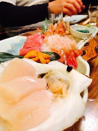Ezo Seafoods Oyster Bar: fresh sashimi