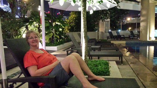 Park Hotel Clarke Quay: Lounging by the pool.  Just stayed here for 4 days. Lovely hotel with good food and very friendl