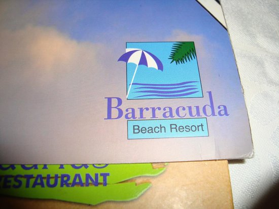 Barracuda Beach Resort: menu