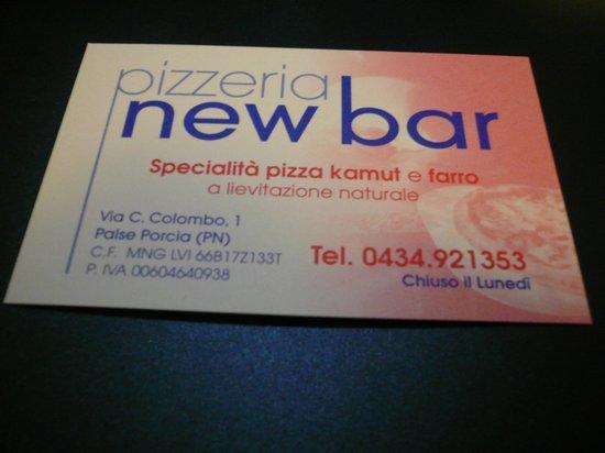 Pizzeria New Bar: new bar Porcia