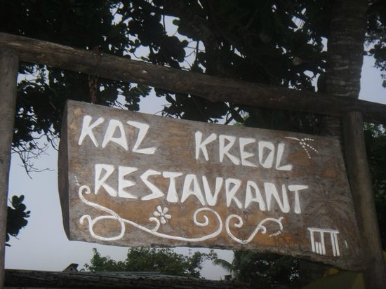 Kaz Kreol Restaurant & Beach Club: Main entrance