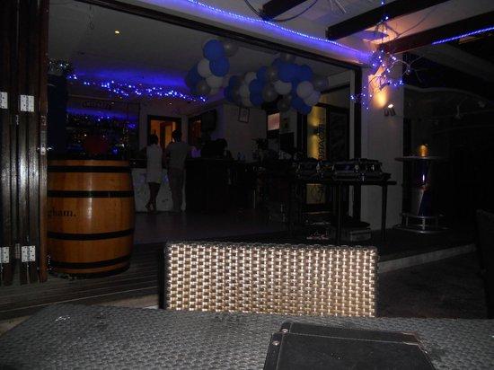 The Boardwalk Bar: DJ playing