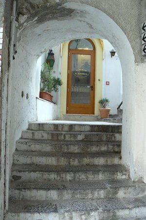 Front door of Albergo Sant'Andrea