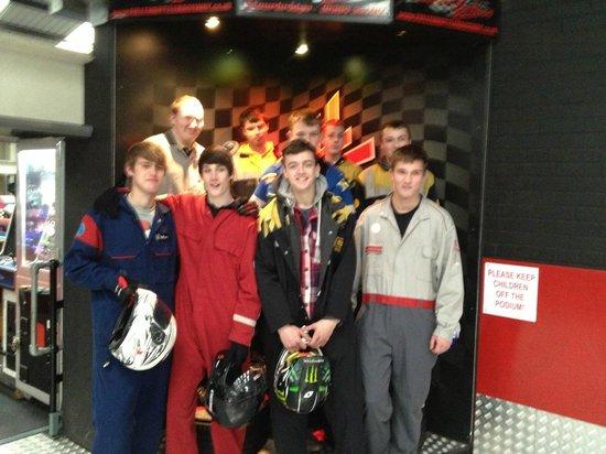 Full Throttle Raceway Ltd: Students enjoying the experience