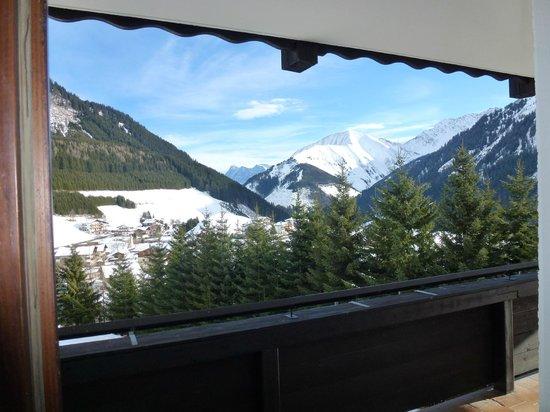 Hotel Blitz : Zugspitzblick aus dem Zimmerfenster