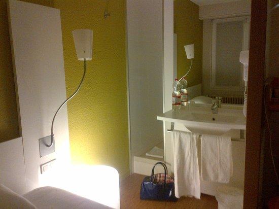 Ibis Styles Nancy Centre Gare : chambre-coin lavabo