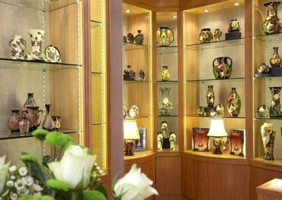 Moorcroft Pottery at Talents of Windsor: Display in store