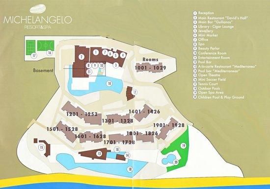 Michelangelo Resort and Spa : La mappa dell'hotel