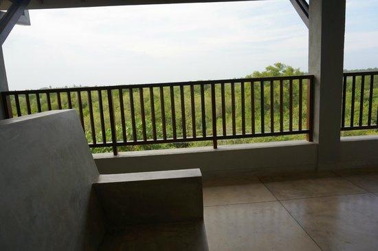 Serein Beach Hotel: View from top floor over wetland