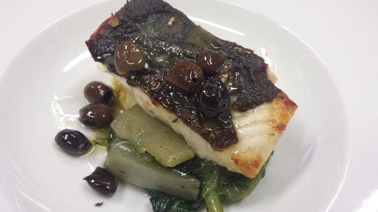 Ostaria da Mauro : rombo cicoria patate e olive taggiasche