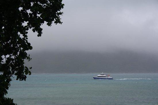 Chalets Cote Mer : Blick vom Balkon: es regnete auch mal