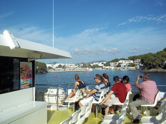 Hotel Cala Ferrera: View from the Glass Bottomed Boat