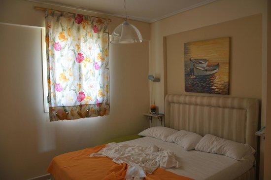 Gea Villas Lefkada: первый уровень, спальня