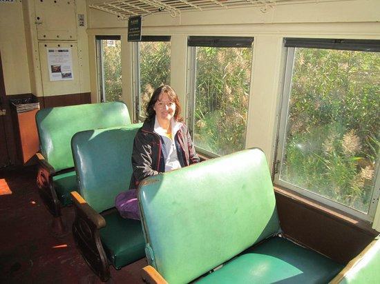 Berkshire Scenic Railway Museum: Inside the train