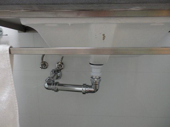 Underneath Bathroom Sink Would Look Better With A Vanity Unit To