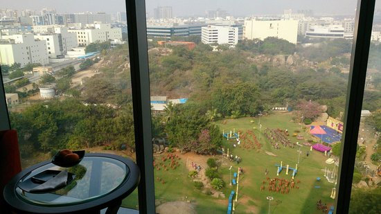 Trident Hyderabad: Great view from the 10 th for