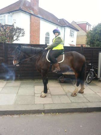 Teddington, UK: me riding simon at park lane stables