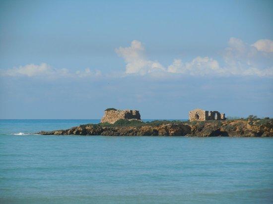 Camping Luminoso : Le rovine di Punta Braccetto