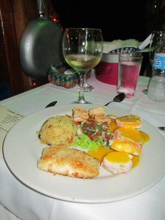 Restaurante La Regatta: Jantar Ano NOVO 2013-2014 teve entradas e depois sobremesa