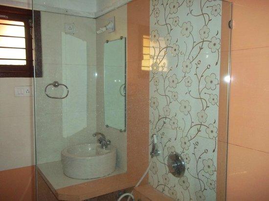 Aum Health Resort: mirror and sink
