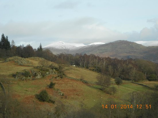 The Britannia Inn: A view from one of our trips looking back towards Elterwater