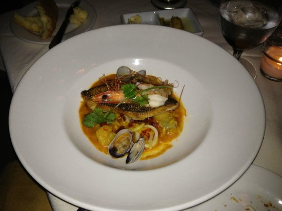 Mistral: Black Bass w/ Seafood Paella
