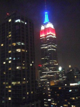 Residence Inn New York Manhattan/Times Square : Vista a Noite do Empire State