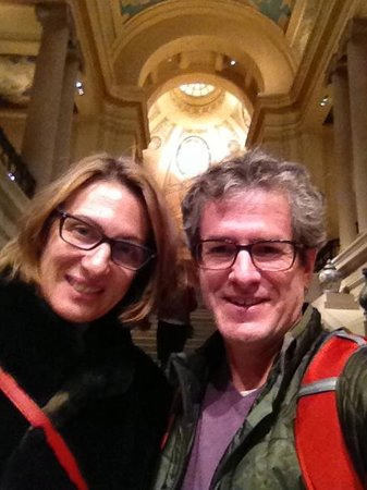 Museo de Bellas Artes: Happy Couple after a great day at the MFA
