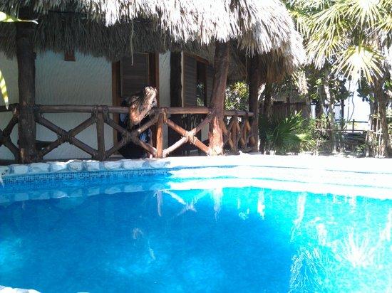 Xaloc Resort : Pool und Bungalow