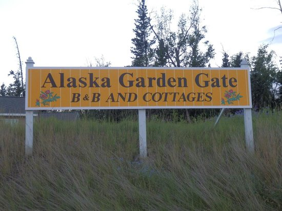 Alaska Garden Gate B & B Sign