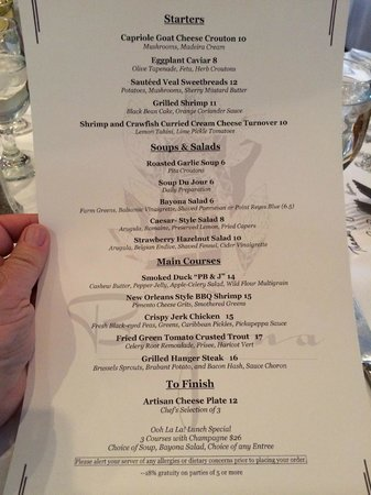 Bayona: Lunch Menu