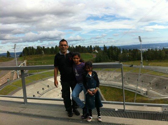 Musée du ski de Holmenkollbakken : with my kids
