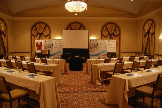 The Westin Poinsett, Greenville: Meeting room set up in Gold Ballroom