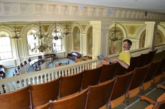 New Hampshire State House : The balcony for visitors