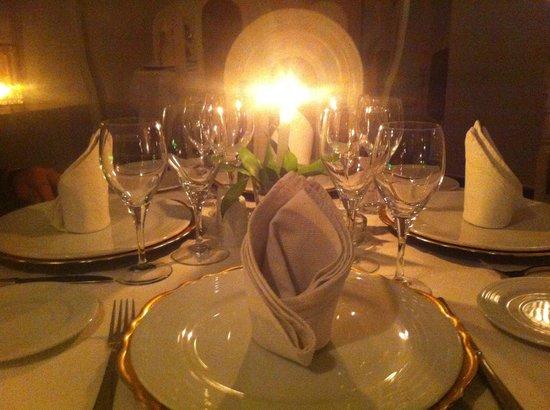 LE BAALBEC : table avant dégustation