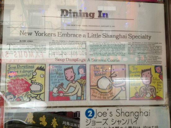 Joe's Shanghai: Ecco come mangiare i ravioli di Joe