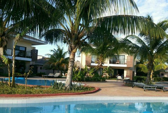 Melia Buenavista: View from a deck of second pool.
