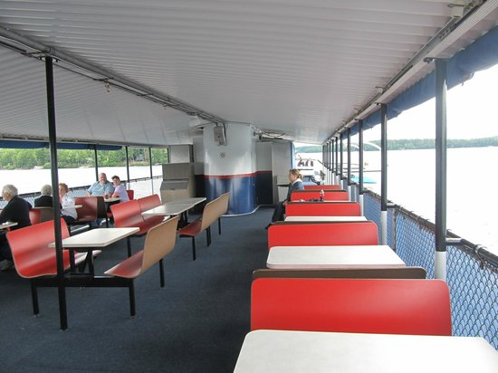 The M/S Mount Washington: Outdoor deck