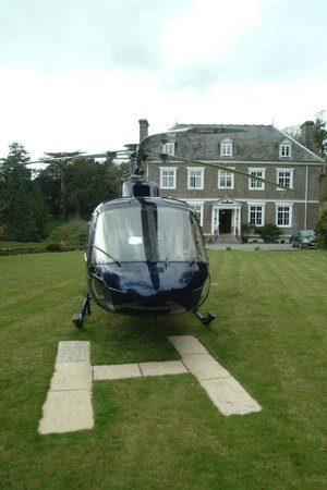 Buckland Tout-Saints Hotel: Helicopter landing pad