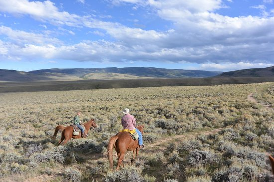 Laramie River Dude Ranch: A typical, wonderful, ride.