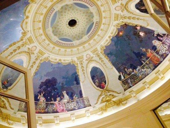 Chateau d'Artigny : Cupola nella sala al primo piano