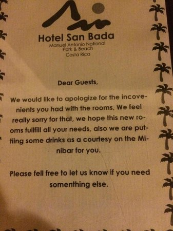 Hotel San Bada: This was in our room first floor---but no mini bar. Sigh...