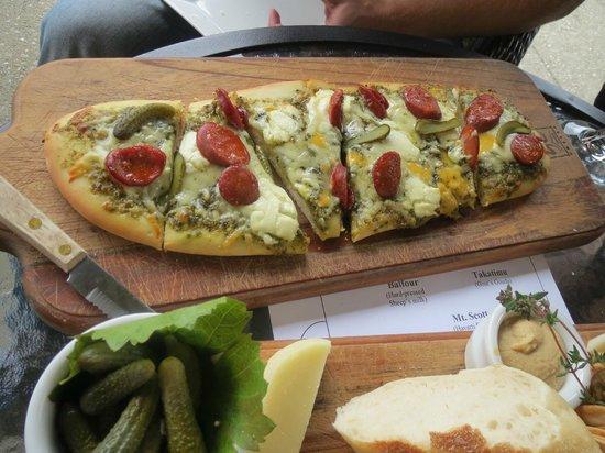 Gibbston Valley Cheese: the chorizo pizza bread