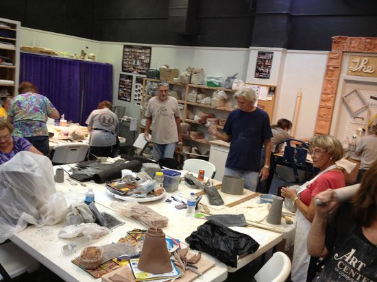 Clay studio at The Art Center of Corpus Christi