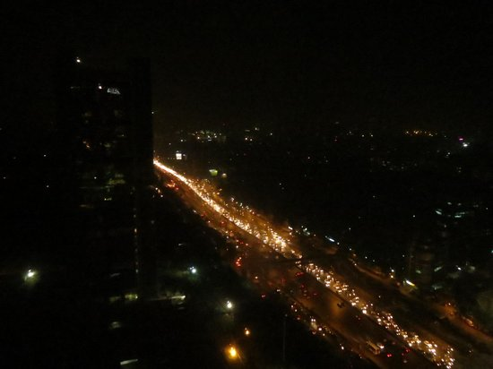 The Westin Mumbai Garden City: The view o Western Expressway in the evening.
