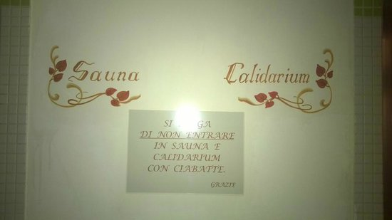 Albergo Villa Cristina : Sauna e Calidarium